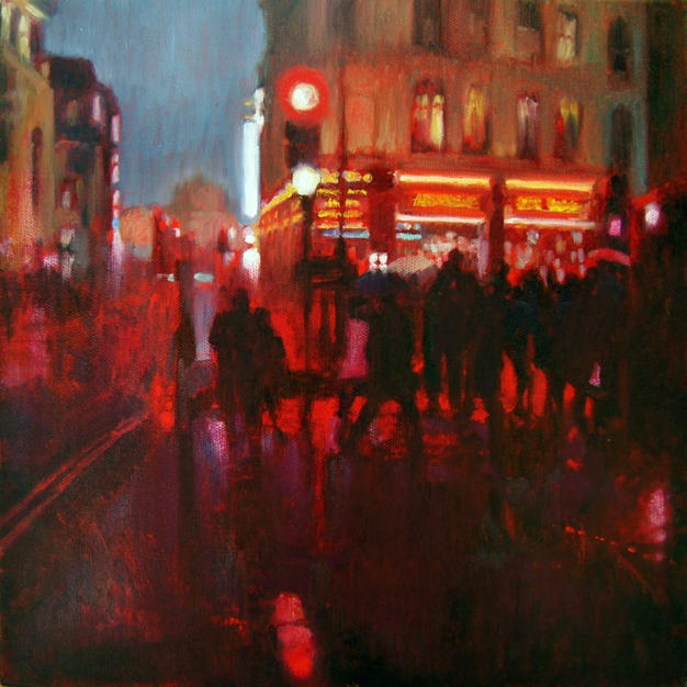 Shaftesbury Avenue. Rain