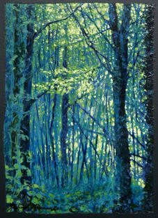 Woods in Blue & Green