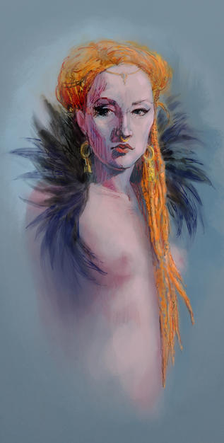 Naomi with Feathers
