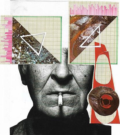 Een zelfportret, beeld, collage van de maker van Eufrasieën, iemand met HSP, iemand die hoogsensitief is.