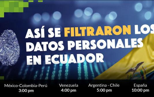 Así se filtraron los datos en Ecuador
