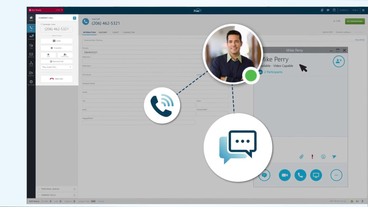 Five9 + Skype for Business