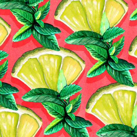LIME AND MINT: Illustrating Giselles ingredients