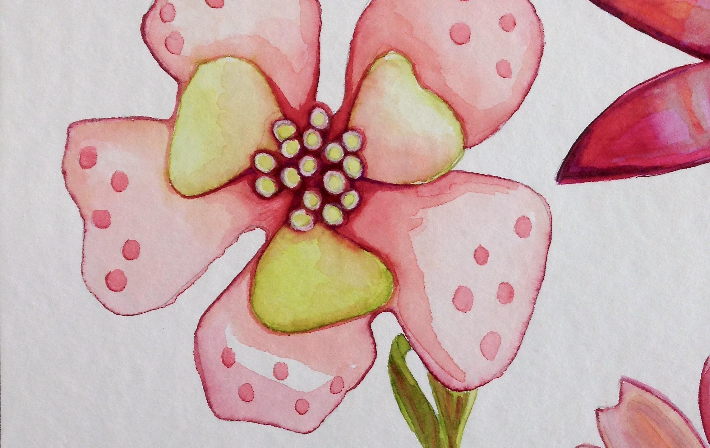 ENAMEL FLOWER DRAWING