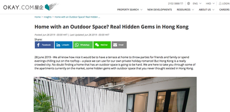Home with an Outdoor Space? Real Hidden Gems in Hong Kong