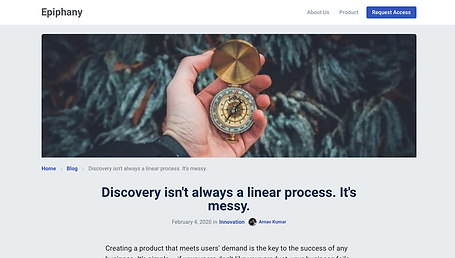 Discovery isn't always a linear process. It's messy.