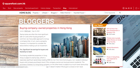 Buying company-owned properties in Hong Kong