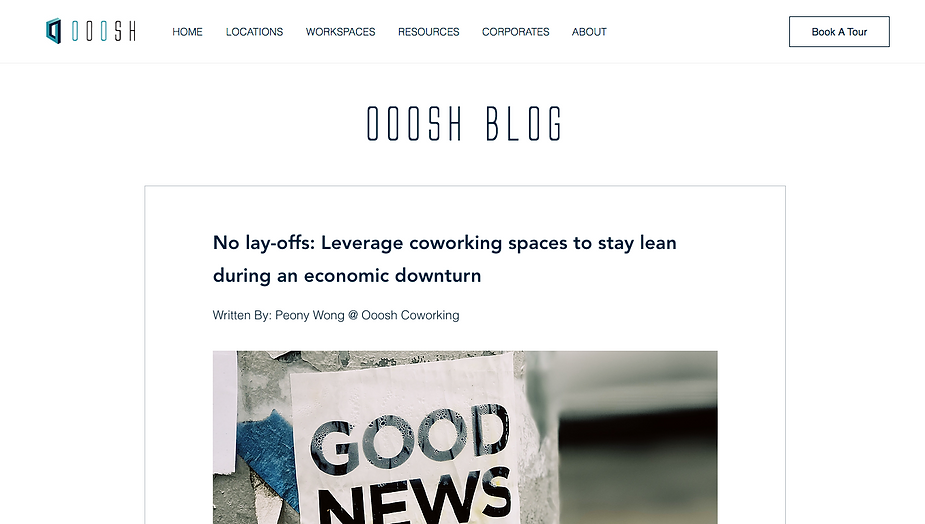 No lay-offs: Leverage coworking spaces to stay lean during an economic downturn