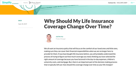 Why Should My Life Insurance Coverage Change Over Time?