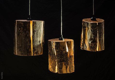 Cracked Log Pendant Lights