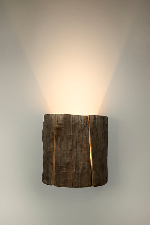Cracked Log Wall Sconce