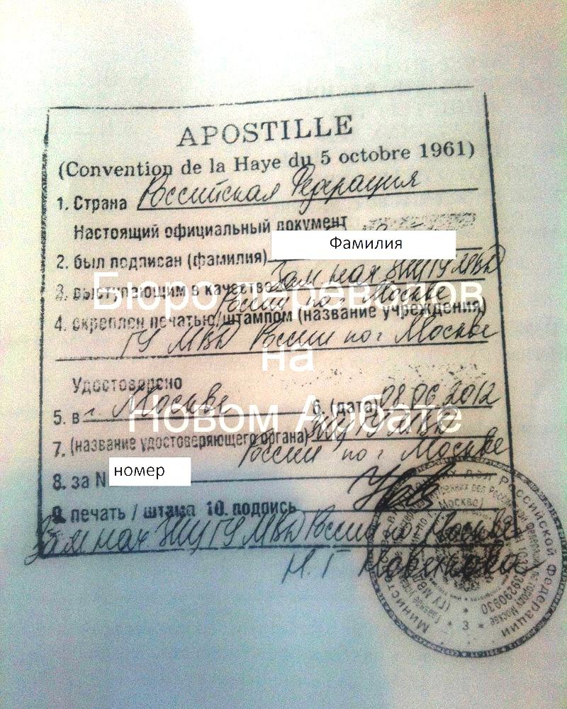 Апостиль Российская Федерация