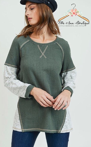 The Allyson Olive Tunic Sweater