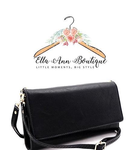 Black Cellphone Wallet Crossbody