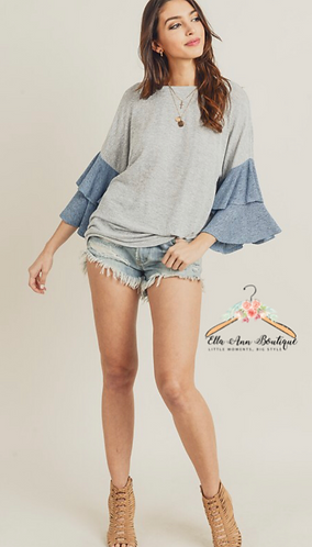 The Harley Tiered Bell Sleeve Top