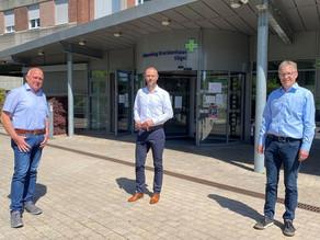 CDU-Kandidaten mit der Hospitalleitung im Gespräch