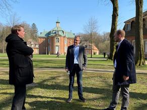 Austausch mit Landrat Marc-André Burgdorf auf Schloss Clemenswerth