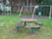 New picnic table at Maresfield Recreation ground