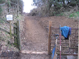 Repairing the footpath near the bypass
