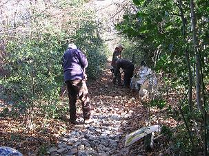 relaying the footpath near Rabbity lane