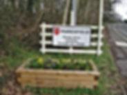 Planter near to village entrance at Batts Bridge roundabout