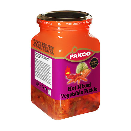 Pakco - HOT Mixed Vegetable Pickle 385g