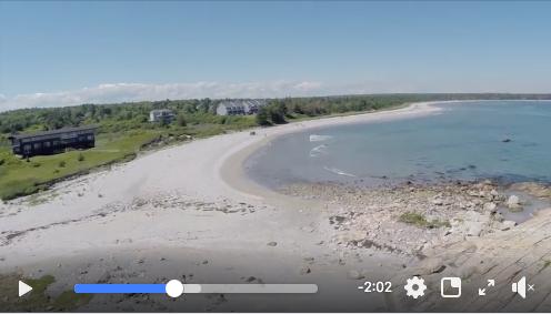 Video:  Arial footage of beautiful Beach Meadows Beach
