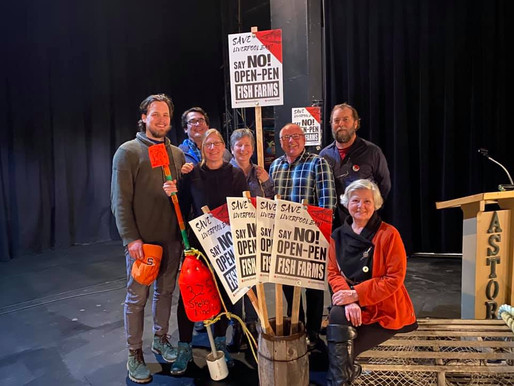 Huge turnout for the bi-coastal anti open net-pen event at Astor Theatre in Liverpool last night!