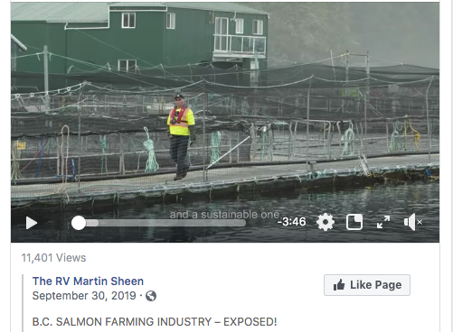 The RV Martin Sheen on B.C. salmon farming industry: This was paradise. Now its a garbage dump.