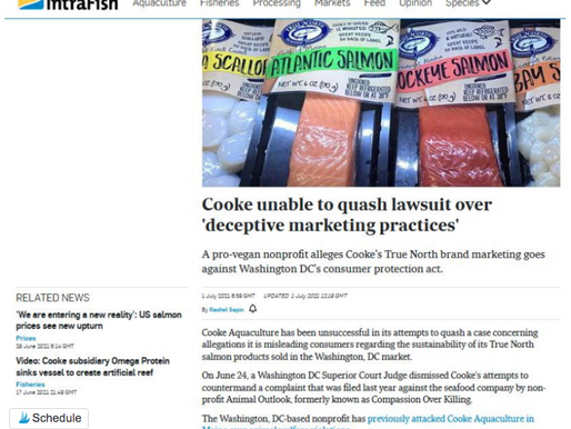 Cooke unable to quash lawsuit over 'deceptive marketing practices' - Intrafish
