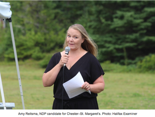 Video: NDP Candidate Amy Reitsma takes a stand against open net-pen fish farms at local rally