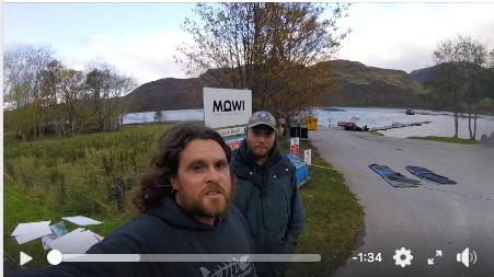 Sea Shepherd's Clancy Walker video report from a MOWI salmon feedlot in Scotland