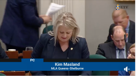 Video:  Kim Masland, MLA for Queens-Shelburne expresses her concerns as finfish farms look to expand