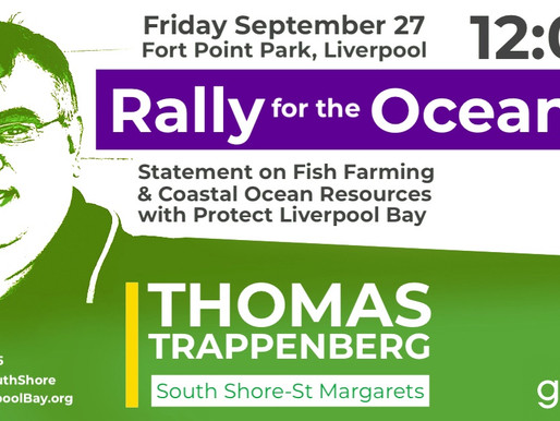 New Date & Location for Green Rally with Thomas Trappenberg in Liverpool, NS