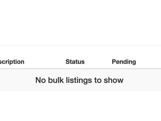 Uploading Listings in Bulk