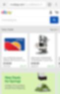 eBay mobile landing