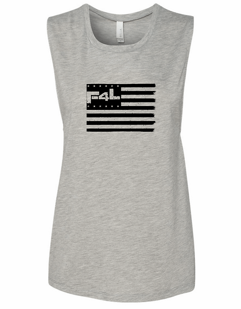 F4L Flag Women's Muscle Tank