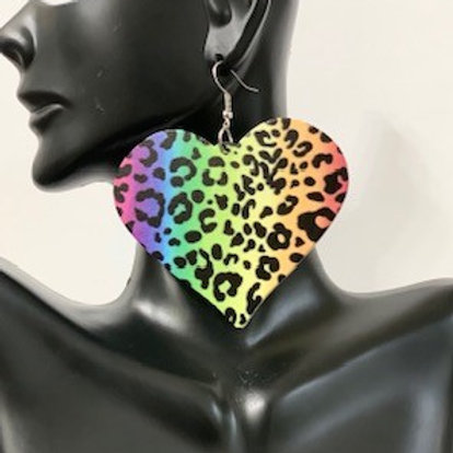 Hearts Colorful Leopard