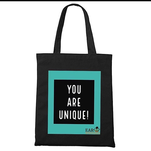 Unique Teal/B&W Tote