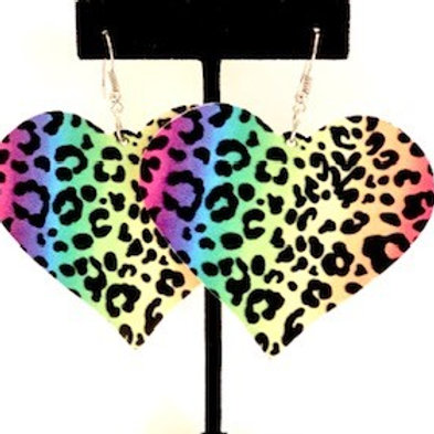 Heart Colorful Leopard