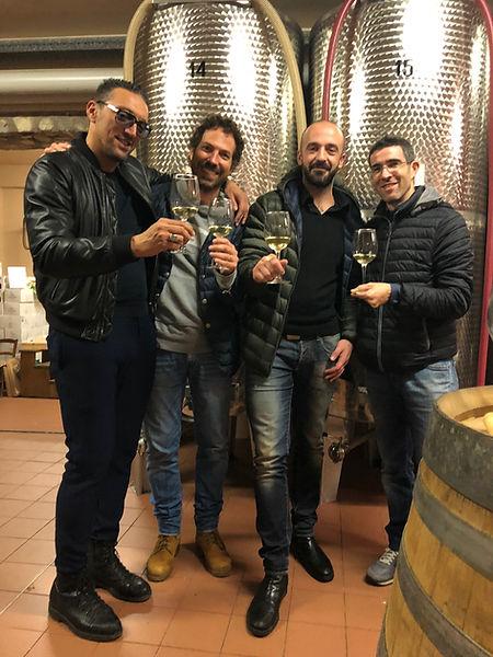 Vini LaCricca: da sinistra Paolo, Luca C., Giacomo e Luca L.