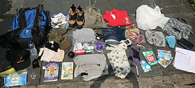 Clothing and property owned by a refugee in a detention centre