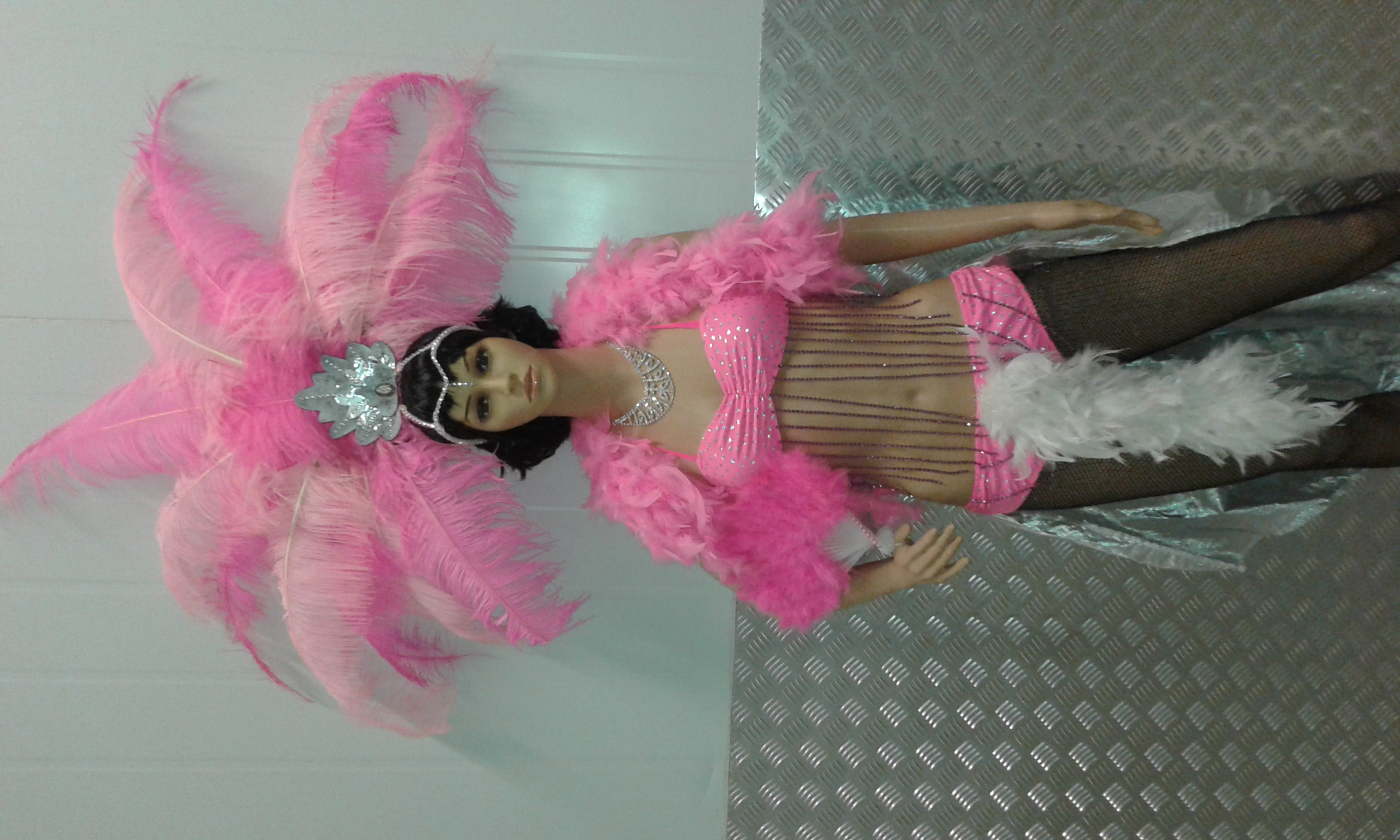 Pink Feather Show  Girl