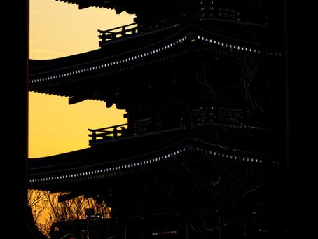 浅草寺の夕景