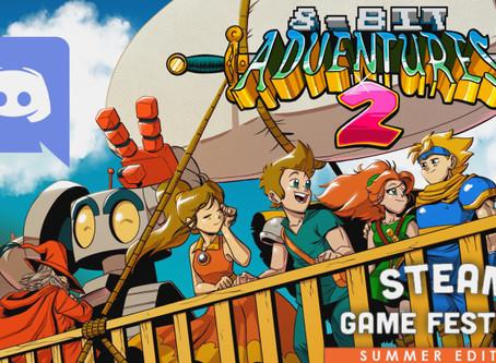 8-Bit Adventures 2 Discord AMA during Steam Summer Festival!