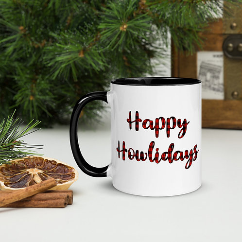 Happy Howlidays Mug with Color Inside