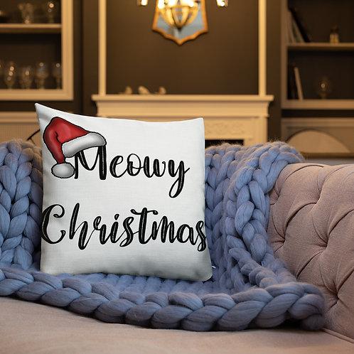 Meowy Christmas Premium Pillow