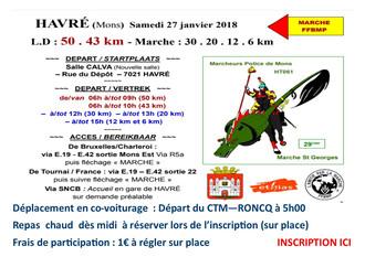 Marches Havré - Sam 27 Janvier 2018
