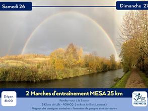 MARCHES - 25 km En prépa de la MESA