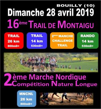 Marche Nordique Compétition Bouilly 28 avril 2019 - 26 km